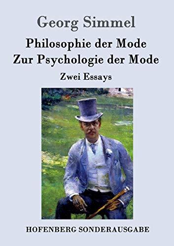 9783843062510: Philosophie der Mode / Zur Psychologie der Mode
