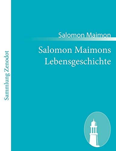 9783843065719: Salomon Maimons Lebensgeschichte (German Edition)