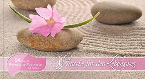 9783843113021: W�nsche f�r den Lebensweg: Panorama-Postkarten-Buch