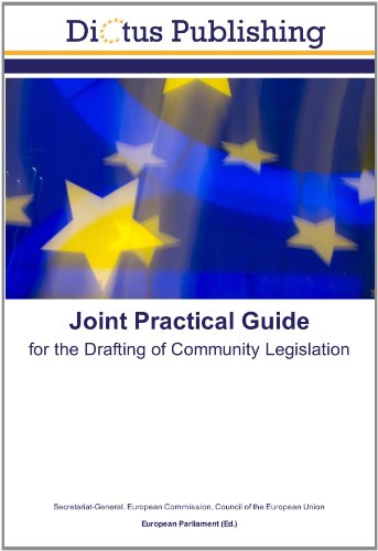 9783843345163: Joint Practical Guide: for the Drafting of Community Legislation
