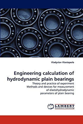 9783843350419: Engineering Calculation of Hydrodynamic Plain Bearings