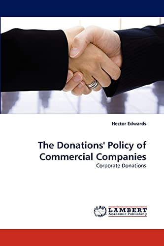 9783843351126: The Donations' Policy of Commercial Companies: Corporate Donations