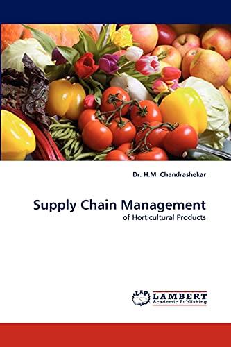 Supply Chain Management: Dr. H. M. Chandrashekar