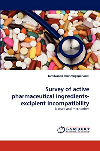 Survey of active pharmaceutical ingredients-excipient incompatibility: Nature and mechanism: ...