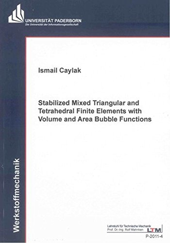 Stabilized Mixed Triangular and Tetrahedral Finite Elements with Volume and Area Bubble Functions: ...