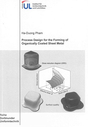 Process Design for the Forming of Organically Coated Sheet Metal: Ha-Duong Pham