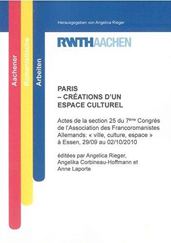 PARIS - CRÉATIONS D'UN ESPACE CULTUREL: Angelica Rieger
