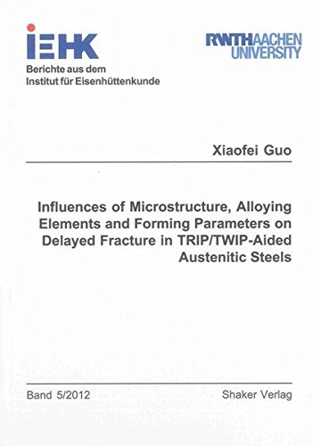 9783844014273: Influences of Microstructure, Alloying Elements and Forming Parameters on Delayed Fracture in TRIP/TWIP-Aided Austenitic Steels (Berichte aus dem Institut fur Eisenhuttenkunde)