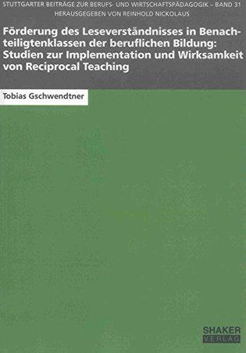 Förderung des Leseverständnisses in Benachteiligtenklassen der beruflichen Bildung: ...