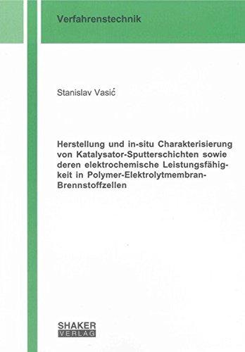 Herstellung und in-situ Charakterisierung von Katalysator-Sputterschichten sowie deren ...