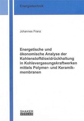 Energetische und ökonomische Analyse der Kohlenstoffdioxidrückhaltung in ...
