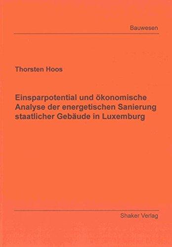 9783844019094: Einsparpotential und ökonomische Analyse der energetischen Sanierung staatlicher Gebäude in Luxemburg