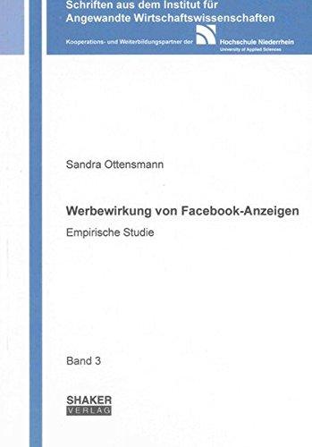 9783844020014: Werbewirkung von Facebook-Anzeigen: Empirische Studie