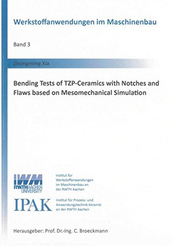 Bending Tests of TZP-Ceramics with Notches and Flaws based on Mesomechanical Simulation: Zhongming ...