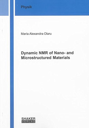 9783844022575: Dynamic NMR of nano- and Microstructured Materials (Berichte aus der Physik)