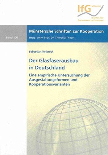 9783844023411: Der Glasfaserausbau in Deutschland