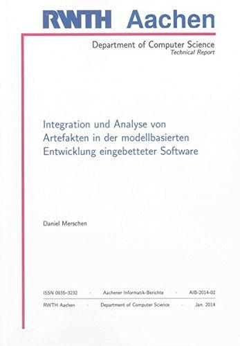 Integration und Analyse von Artefakten in der modellbasierten Entwicklung eingebetteter Software: ...
