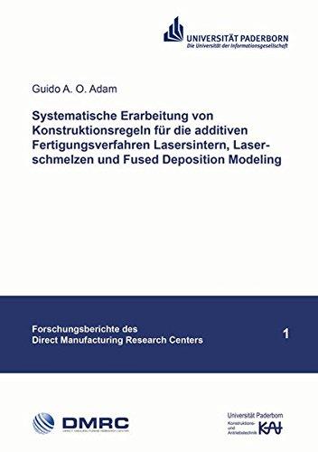 9783844034745: Systematische Erarbeitung von Konstruktionsregeln für die additiven Fertigungsverfahren Lasersintern, Laserschmelzen und Fused Deposition Modeling