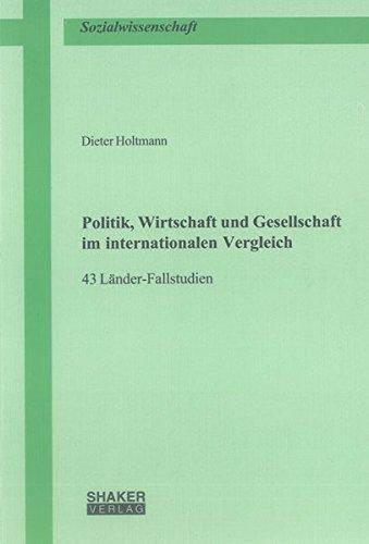 9783844037883: Politik, Wirtschaft und Gesellschaft im internationalen Vergleich