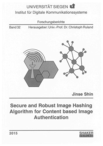 9783844039863: Secure and Robust Image Hashing Algorithm for Content Based Image Authentication: 1 (Forschungsberichte des Instituts fur Digitale Kommunikationssysteme)
