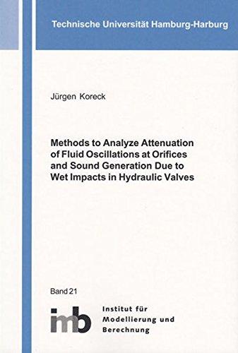 9783844045079: Methods to Analyze Attenuation of Fluid Oscillations at Orifices and Sound Generation Due to Wet Impacts in Hydraulic Valves 2016: 1 (Schriftenreihe des Instituts fur Modellierung und Berechnung)