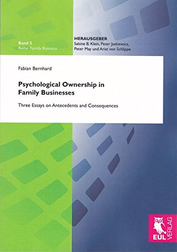 9783844100495: Psychological Ownership in Family Businesses