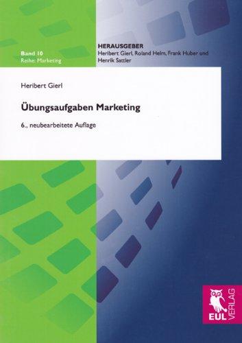 9783844100839: Gierl, H: Übungsaufgaben Marketing