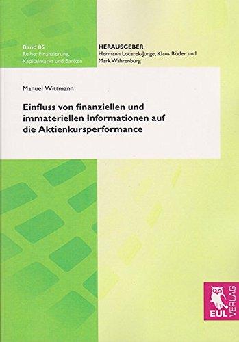 9783844101935: Einfluss von finanziellen und immateriellen Informationen auf die Aktienkursperformance