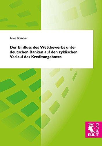 Der Einfluss des Wettbewerbs unter deutschen Banken auf den zyklischen Verlauf des Kreditangebotes:...
