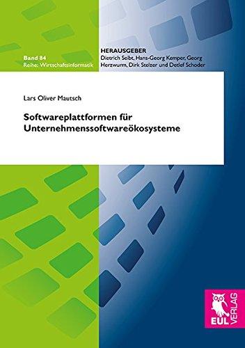 9783844104028: Softwareplattformen f�r Unternehmenssoftware�kosysteme