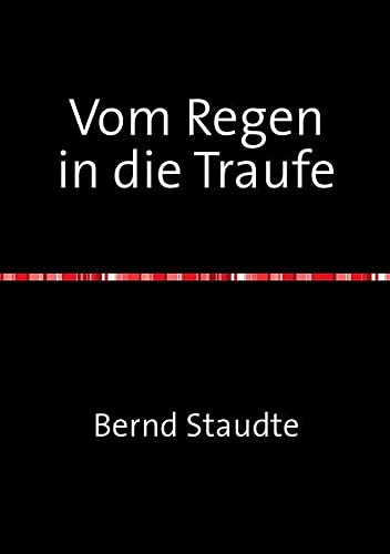 9783844215380: Vom Regen in die Traufe (German Edition)