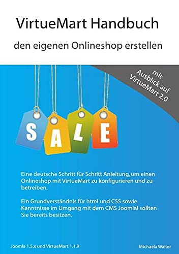 9783844217490: VirtueMart Handbuch - den eigenen Onlineshop erstellen
