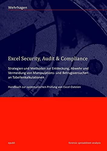 9783844222753: Excel Security, Audit & Compliance