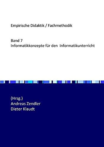 9783844258639: Informatikkonzepte für den Informatikunterricht