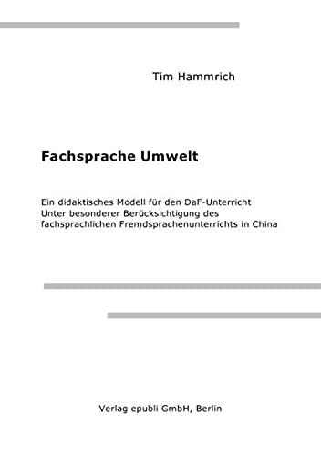 9783844284294: Fachsprache Umwelt (German Edition)