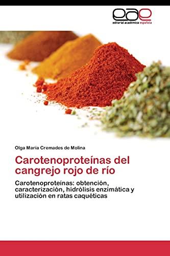 Carotenoproteínas del cangrejo rojo de río: Carotenoproteínas: obtención, caracterización, ...