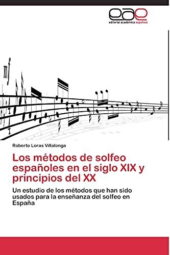 9783844336610: Los métodos de solfeo españoles en el siglo XIX y principios del XX