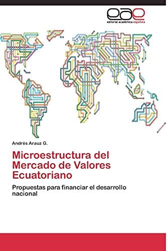 9783844337662: Microestructura del Mercado de Valores Ecuatoriano