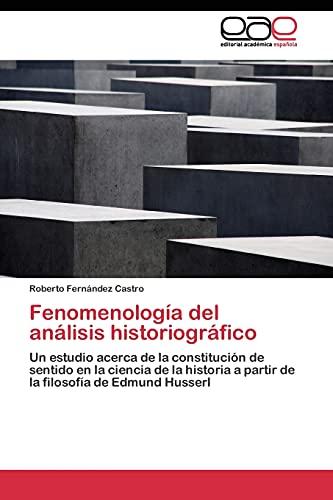 9783844339963: Fenomenología del análisis historiográfico