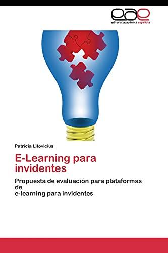 9783844346541: E-Learning para invidentes: Propuesta de evaluación para plataformas de e-learning para invidentes (Spanish Edition)
