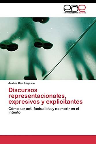 9783844347517: Discursos representacionales, expresivos y explicitantes