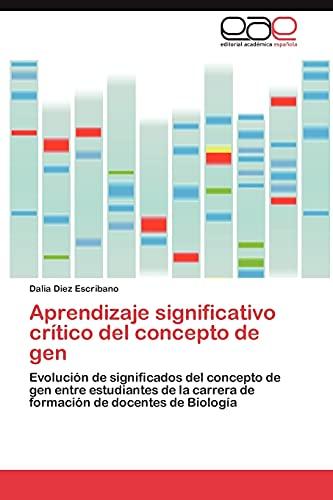 9783844349856: Aprendizaje significativo crítico del concepto de gen