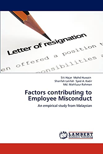 Factors Contributing to Employee Misconduct: Md. Mahfuzur Rahman