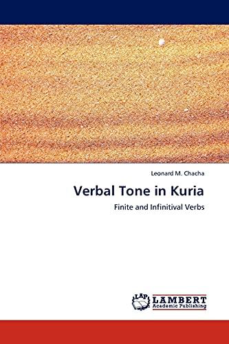 9783844393033: Verbal Tone in Kuria: Finite and Infinitival Verbs