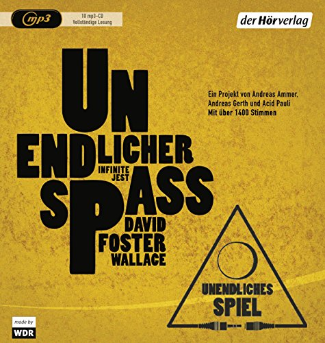 Unendlicher Spa: David Foster Wallace, Andreas Ammer, Andreas Gerth, Acid Pauli, Ulrich Blumenbach