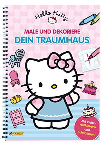 9783845101293: Hello Kitty: Male und dekoriere dein Traumhaus: Mit vielen Aufklebern und Schablonen!