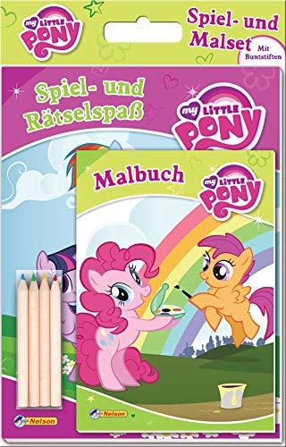 9783845101422: My Little Pony, Spiel- und Malset: Malbuch und Beschäftigungsbuch + 4 Buntstifte