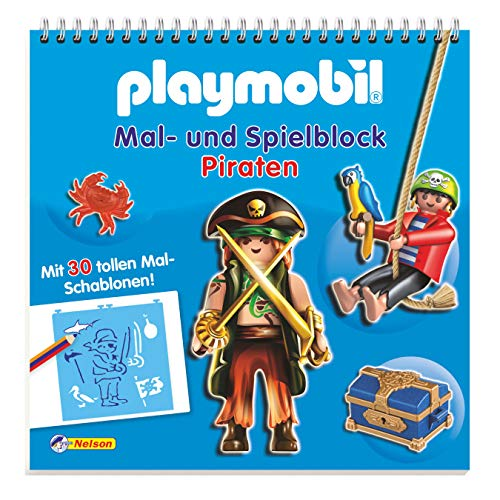 9783845104010: Playmobil Mal- und Spielblock Piraten: Mit 30 tollen Mal-Schablonen!