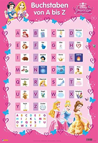 Disney Lernposter: Disney Prinzessinnen - Buchstaben von A bis Z