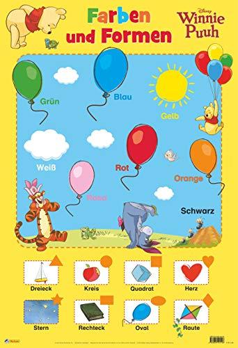9783845104126: Disney Lernposter: Winnie Puuh - Farben und Formen